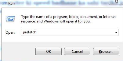 Windows + R prefetch sahi tarika