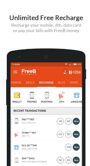 FreeB Mobile Apps se fayeda