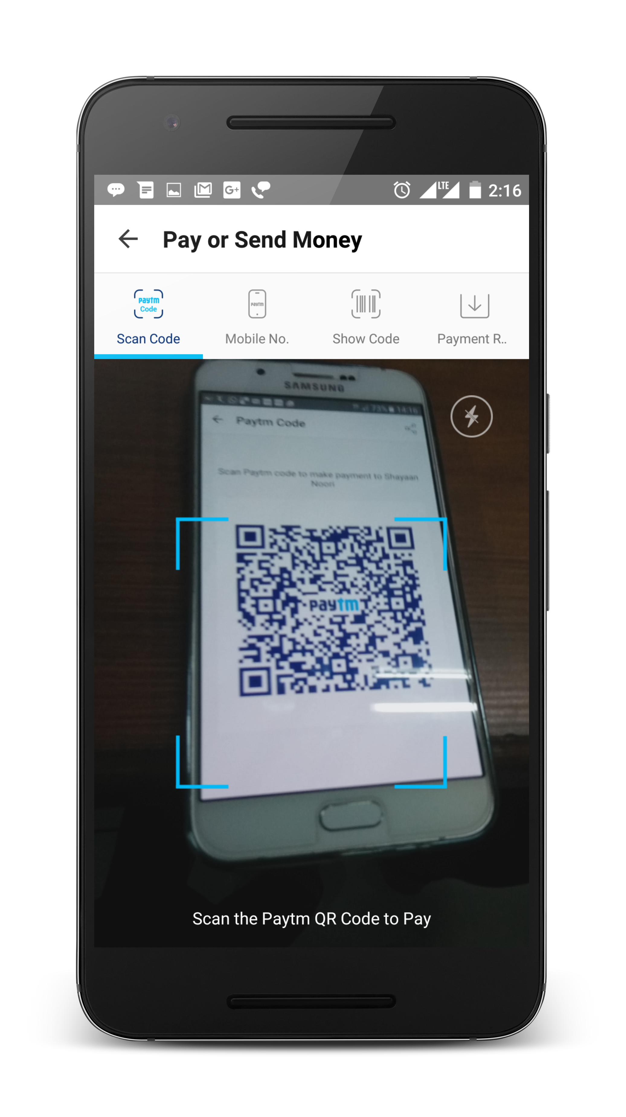 Paytm Mobile scan