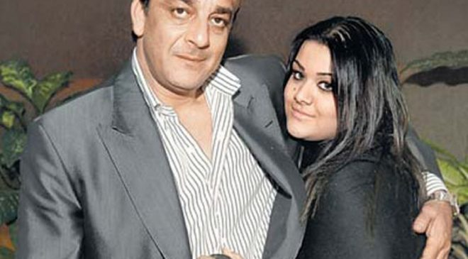 Sanjay Dutt with His Daughter Trishala Dutt Image Source: ScoopWhoop